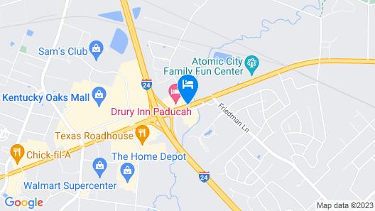 Drury Inn Paducah Map