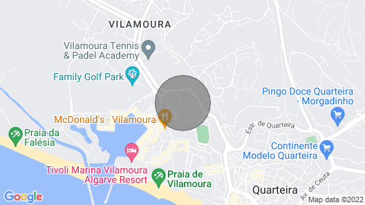Apartment 200 Mtrs. Marina Vilamoura With Wifi in Quiet Area Map