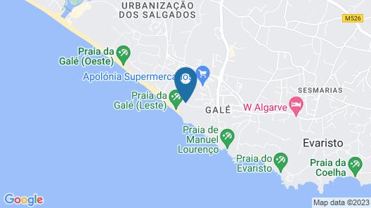 Hotel Vila Gale Praia Map