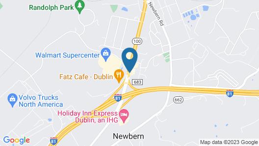 Knights Inn & Suites Dublin Map