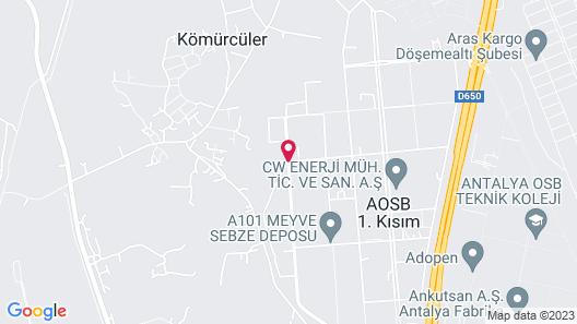 Vib Best Western Antalya Map