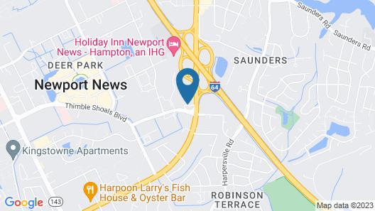 Motel 6 Newport News, VA Map