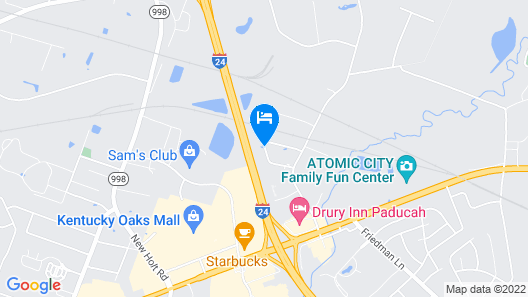 Fairfield Inn & Suites Paducah Map