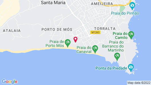 Hotel Clube Porto Mos Map
