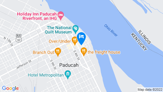 Red Fox Inn Condo Located in Historic Downtown Paducah, KY Map