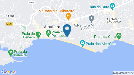 INATEL Albufeira Map