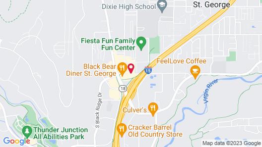 St. George Inn & Suites Map