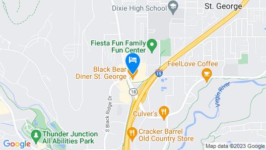 Clarion Suites St George - Convention Center Area Map