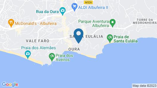 Muthu Clube Praia da Oura Map