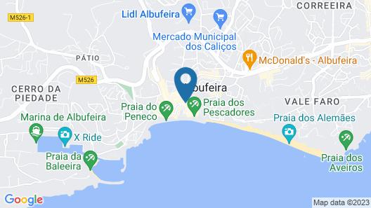 Albufeira Beach Hotel Map