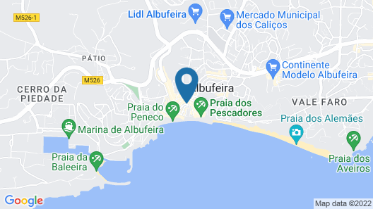 Hotel Califórnia Urban Beach – Adults only Map