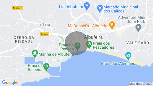 Apartment 100 Meters From the Beach Peneco Map