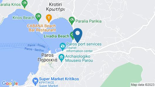 Cyclades Hotel Map