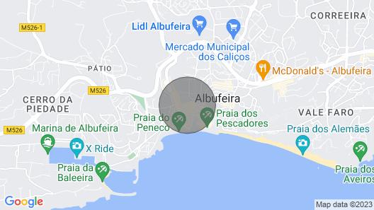 Panoramic sea view spacious apartment Cerro Mar Albuferia Old Town sleeps 4 Map