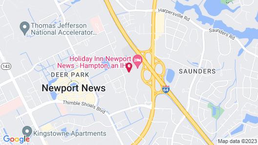 Holiday Inn Newport News - Hampton Map
