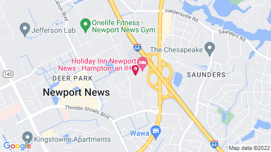Holiday Inn Newport News - Hampton, an IHG Hotel Map