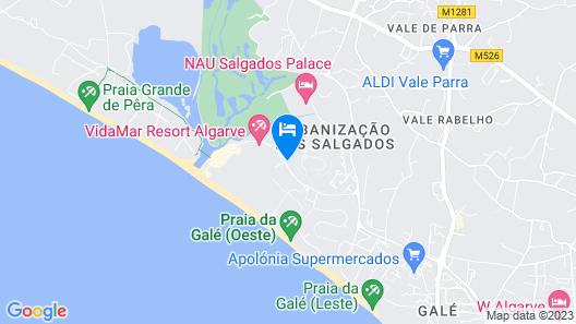 Salgados Beach Vila das Lagoas Map