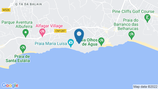 Clube Maria Luisa Map