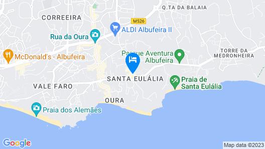 Muthu Oura Praia Hotel Map