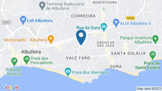 Luna Hotel Da Oura Map