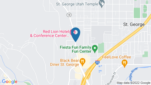Red Roof Inn St George, UT - Convention Center Map