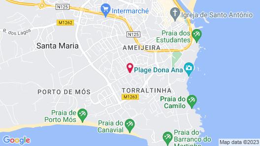 Agua Hotels Vila Branca Map