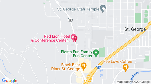 Red Lion Hotel & Conference Center St. George, UT Map