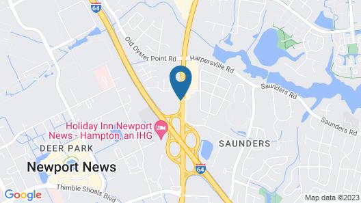 Holiday Inn Express & Suites Newport News, an IHG Hotel Map