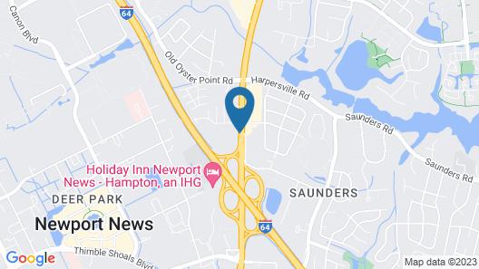 City Center Inn Newport News - Hampton Map