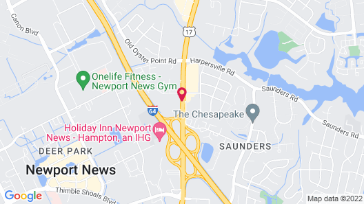 Holiday Inn Express & Suites Newport News Map