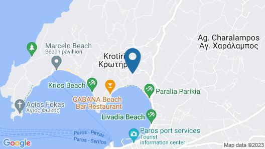 Paros Paradise Apartments Map