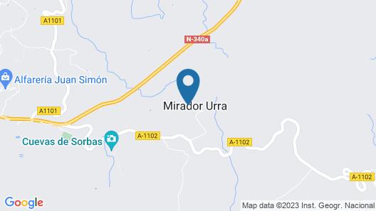 Cortijo Rural en Urrá, uso en Exclusiva, Ideal Para Familias y Grupos de Amigos Map