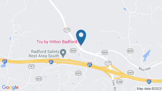 Tru by Hilton Radford, VA Map