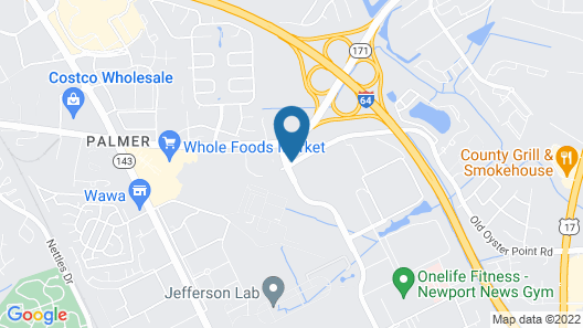 Oyster Point Inn & Suites Newport News Map