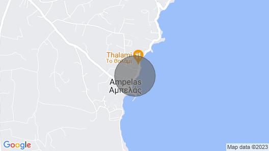 Maya Apartment sea Front Aparent in the Center of Ampelas Paros Map