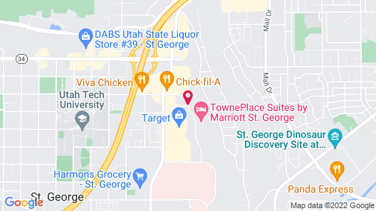Courtyard by Marriott St George Map