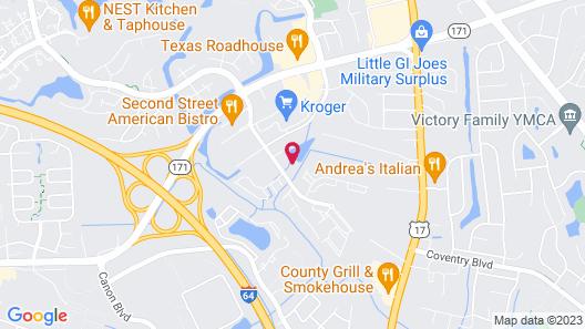 Homewood Suites by Hilton Yorktown Newport News Map