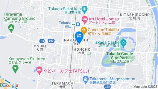 OYO Joetsu Central Hotel Takada-Nakamachi Map