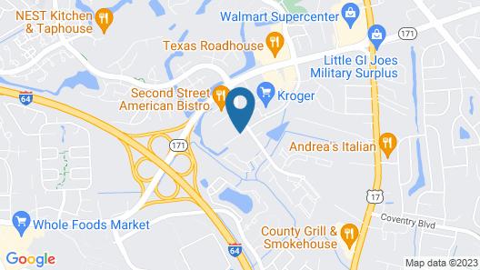 Hilton Garden Inn Newport News Map