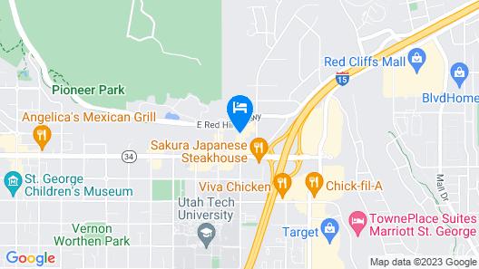 Motel 6 Saint George, UT Map
