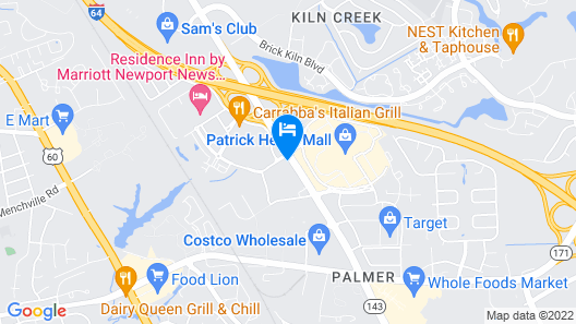 Hampton Inn & Suites Newport News-Arpt-Oyster Pt Map