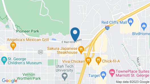Studio 6 Saint George, UT Map