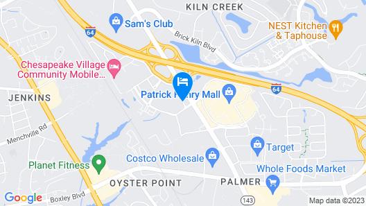 Courtyard by Marriott Newport News Airport Map