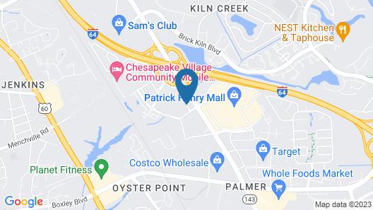 Residence Inn Newport News Airport Map