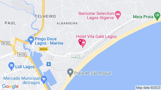 Vila Gale Lagos Map
