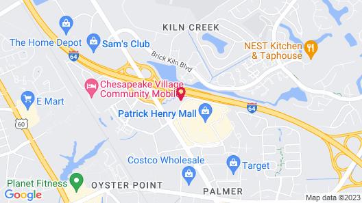 Comfort Inn Newport News - Hampton I-64 Map