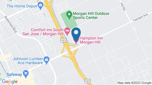 Hampton Inn Morgan Hill Map