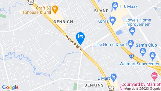 Travel Inn Newport News Map