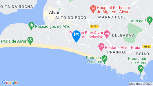 Pestana Dom João II Hotel Beach & Golf Resort Map