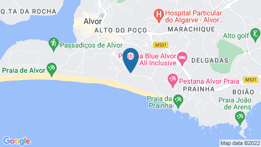 Pestana Dom João II Hotel Beach & Golf Resort Map